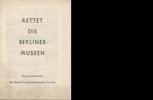 Rettet die Berliner Museen