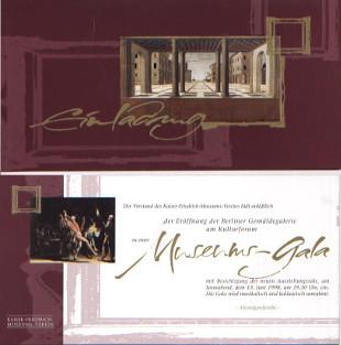 Gemaeldegalerie Museumsgala Einladung 1998