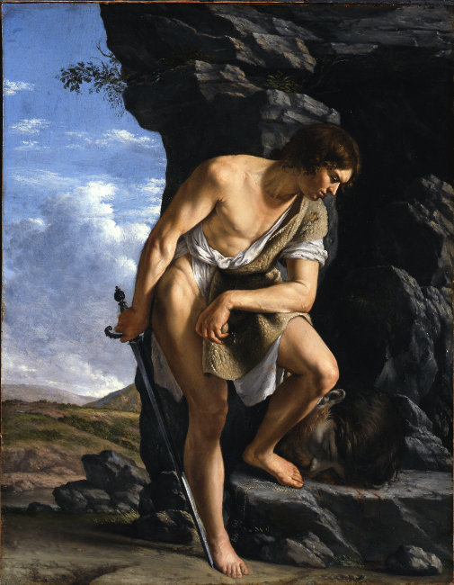 David mit Goliaths Kopf