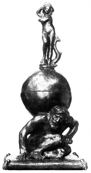 Tintenfaß mit Gigant und Venus
