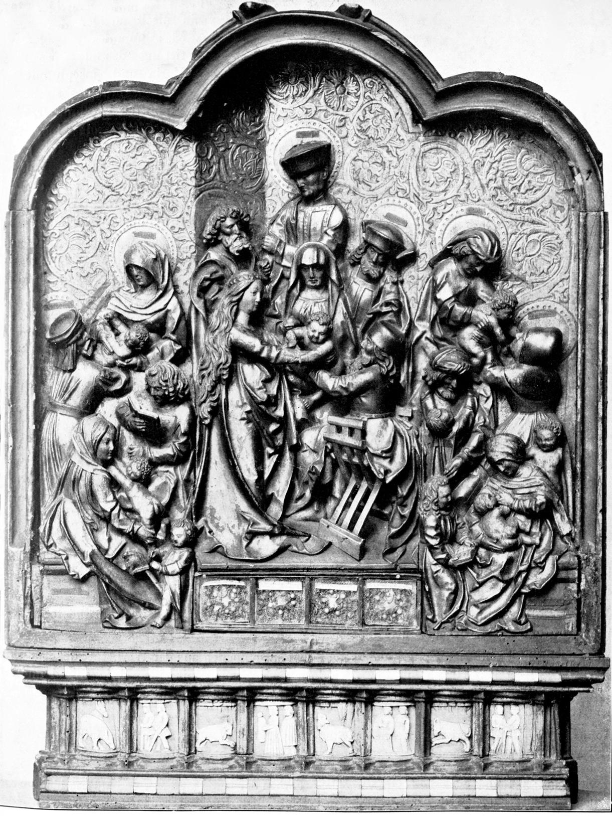 Altärchen mit dem Relief der Heiligen Sippe