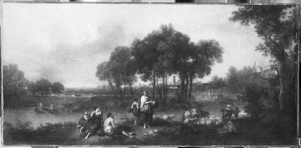 Francesco Zuccarelli - Waldige Flusslandschaft mit Hirten