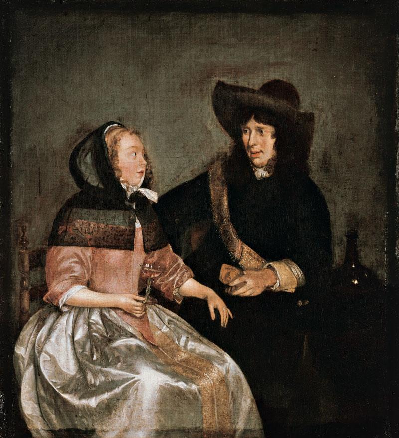 Junges Paar beim Wein