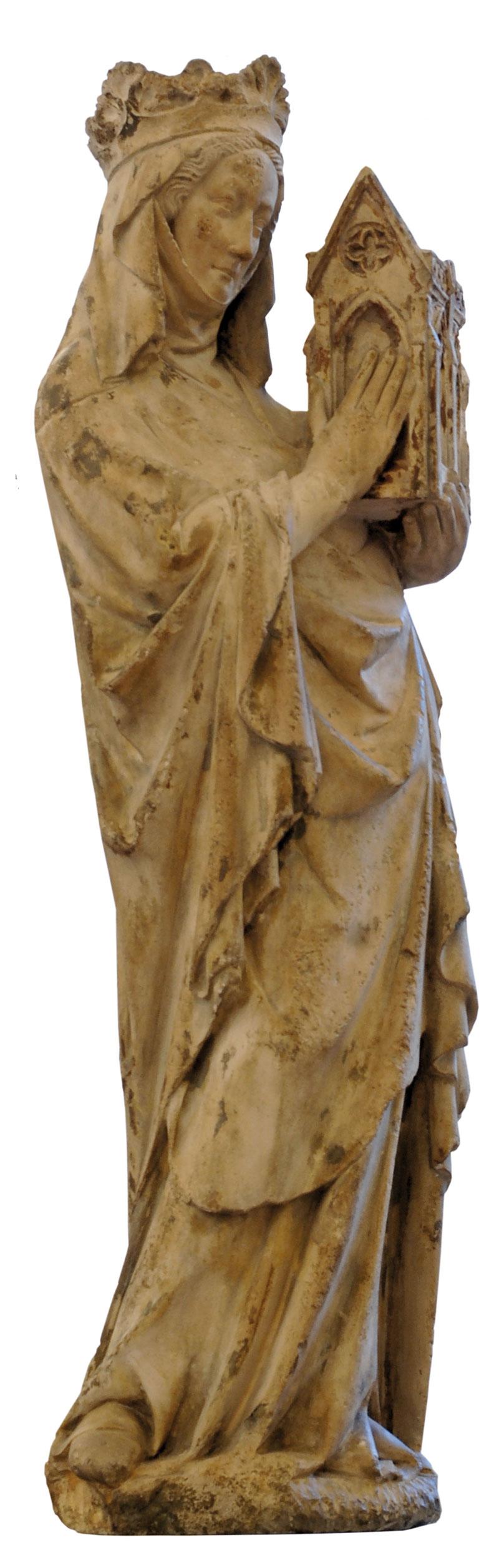 Statue der Königin Johanna I. von Navarra als Stifterin